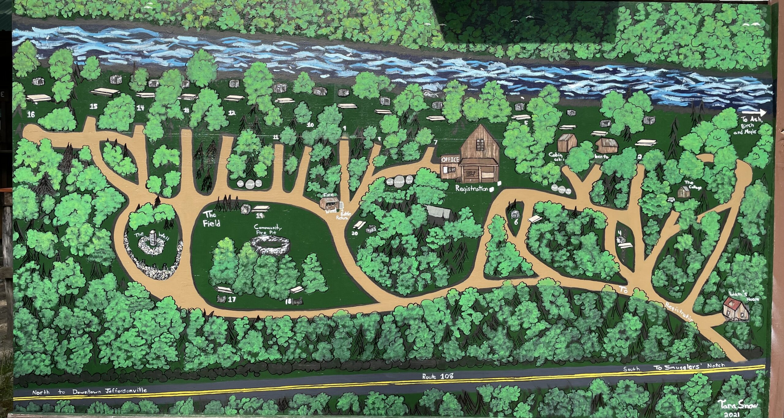 map of Brewster River Campground